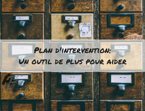 Plan d'intervention: un outil de plus pour aider