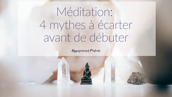 La méditation. On en parle de plus en plus, mais plusieurs mythes ont la vie dure. Comment intégrer facilement cette pratique au quotidien, même si on pense que ce n'est pas pour nous. #méditation #meditation #pleineconscience #mindfulness #ralentir #pause #prendresoindesoi